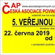 5. veřejná schůze ČAP